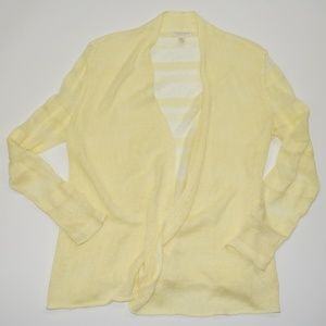 Eileen Fisher Yellow Open Front Cardigan